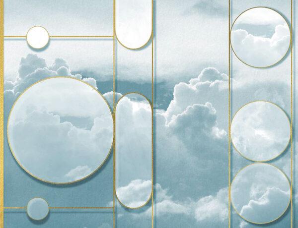 Kaufen Fototapeten Foliage Sky Beispiel blauer Himmel | 3d wandtapete