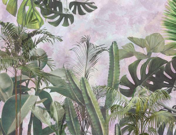 Design Fototapeten Foliage Purple Watercolor Beispiel | fototapete natur