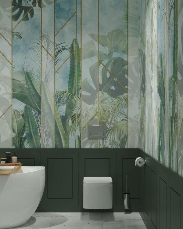 Kaufen Designer Fototapeten Foliage Behind the Glass | 3d tapete badezimmer