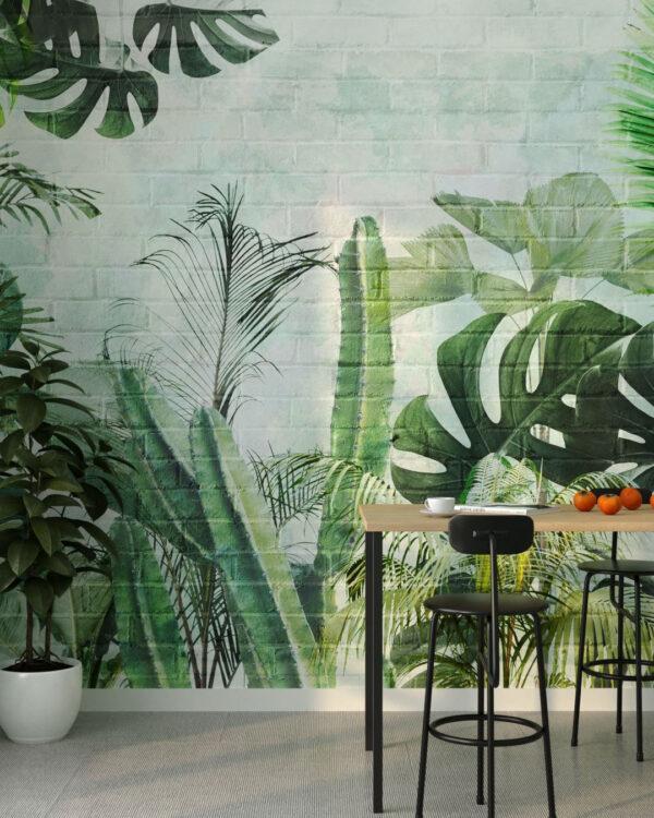 Kaufen Designer Fototapeten Foliage Brick Wall | fototapete natur