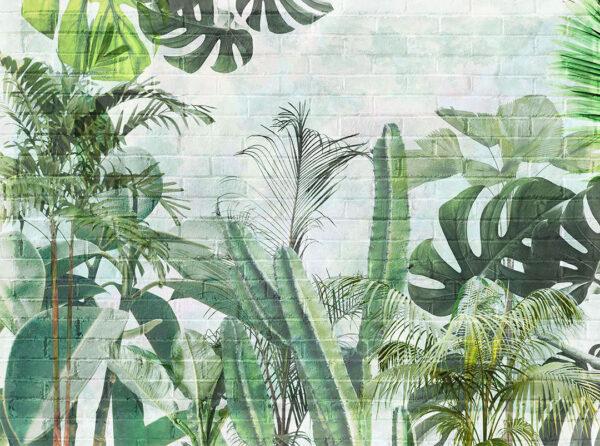 Kaufen Designer Fototapeten Foliage Brick Wall Beispiel | fototapete natur