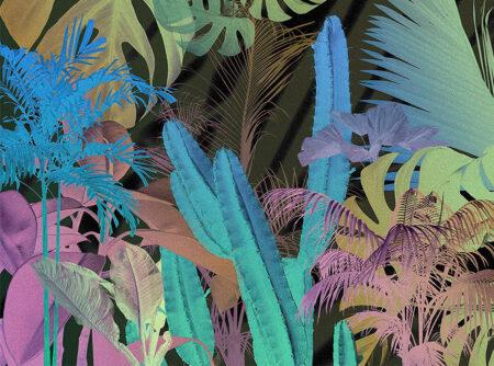 Kaufen Designer Fototapeten Foliage Motley Biespiel Gradient | 3d tapete wohnzimmer