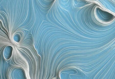 Designer Fototapeten Strutturato Quilling Bright Beispiel Blau   3d tapete schlafzimmer