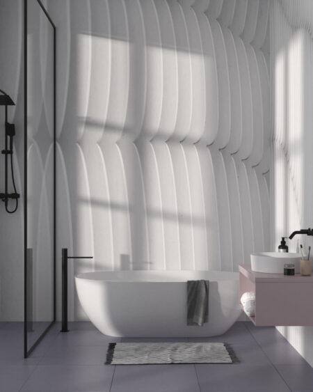 Designer Fototapeten Strutturato Wooden Waves | 3d tapete badezimmer