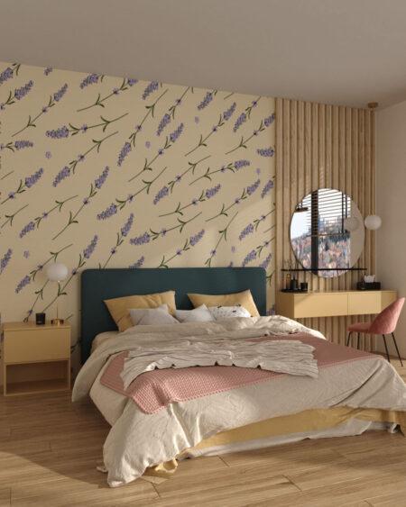 Designer Fototapeten Lavender Beige | 3d tapete schlafzimmer
