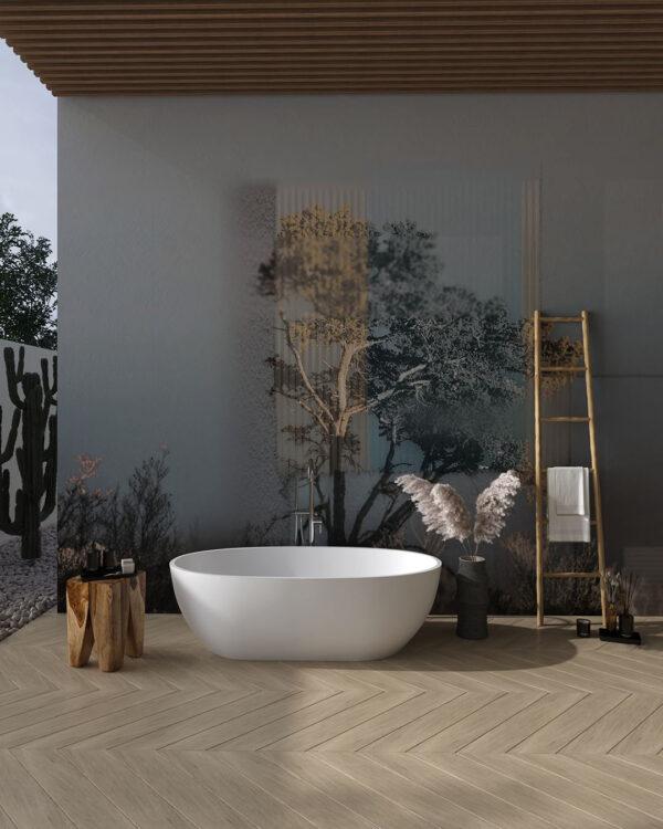 Design Fototapeten Calmness Grau | 3d tapete badezimmer