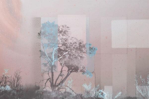 Design Fototapeten Calmness rosa Beispiel | 3d tapete badezimmer