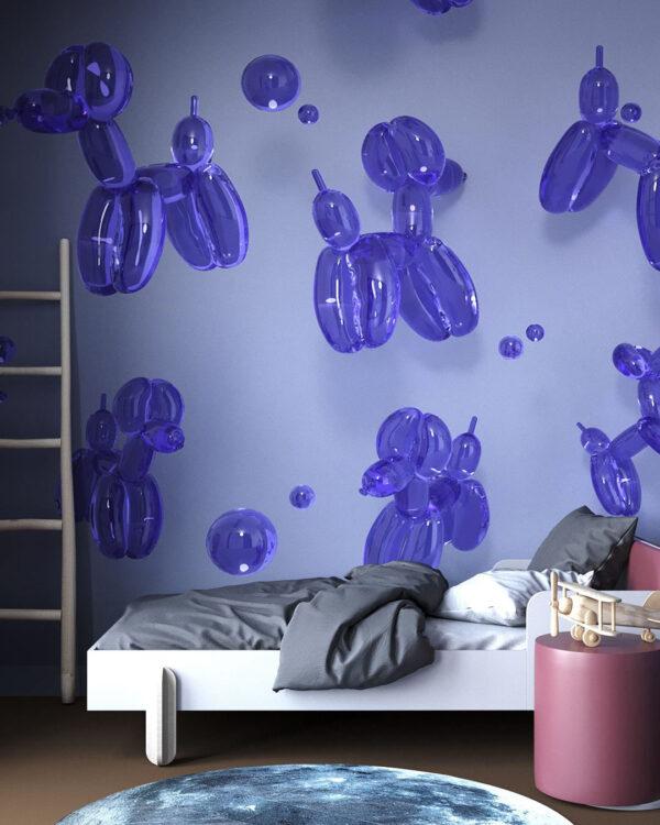 Designer Fototapeten Balloon Dogs Purple | 3d tapete