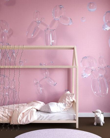 Fototapeten Balloon Dogs Pink   3d tapeten