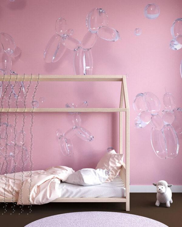 Fototapeten Balloon Dogs Pink | 3d tapeten