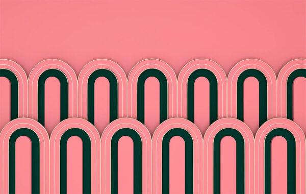 Kaufen Designer Fototapeten Estetista Pink Beispiel   3d tapete