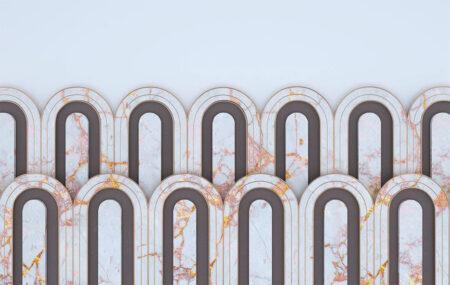 Fototapeten Estetista Blue Marble Beispiel | 3d fototapeten