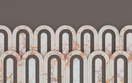 Kaufen Designer Fototapeten Estetista Cappuccino Beispiel grau | 3d tapete