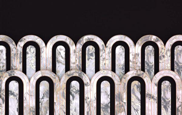 Kaufen Designer Fototapeten Estetista Cappuccino Beispiel das Schwarze   3d tapete