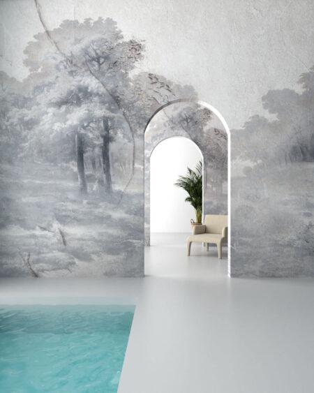 Designer Fototapeten Armonia in the Fog   3d tapeten
