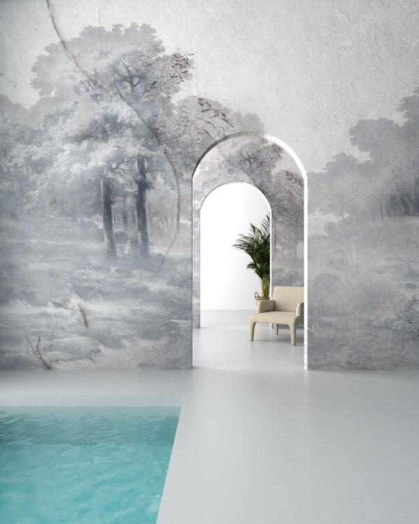 Designer Fototapeten Armonia in the Fog | 3d tapeten