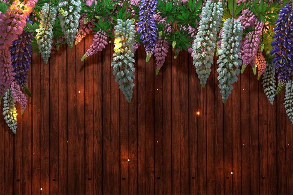 Kaufen Designer Fototapeten Lupin Sunlight Brown Tree Bloom Beispiel Fichte | 3d tapete