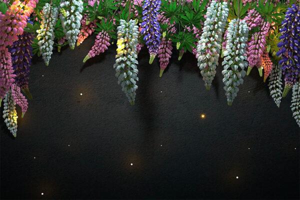 Kaufen DesignerFototapeten Lupin Sunlight Brown Tree Bloom Beispiel dunkel| 3d tapete