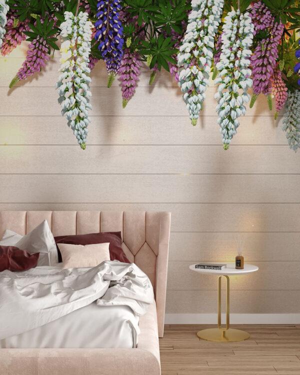 Design Fototapeten Lupin Sunlight White Tree Bloom | 3d tapete schlafzimmer