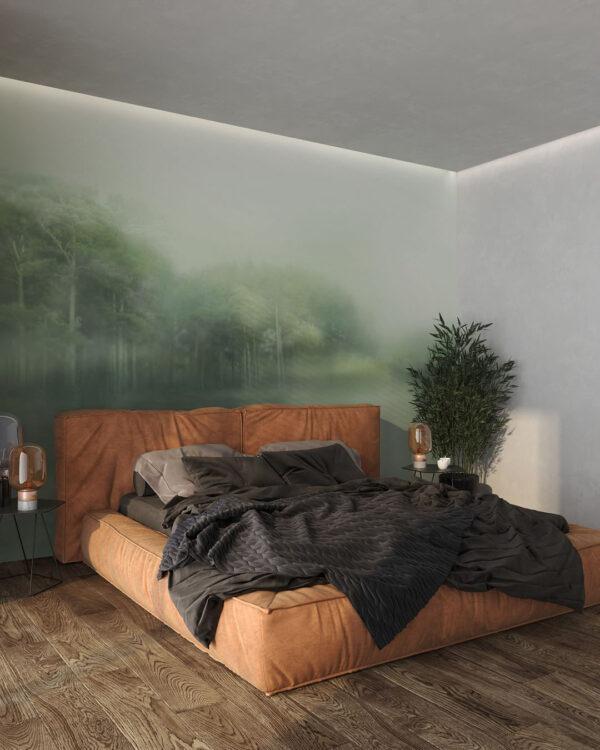 Design Fototapeten Foggy Forest   fototapete natur