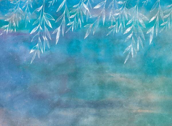 Fototapeten Textured Autumn Beispiel Blau   3d tapete küche