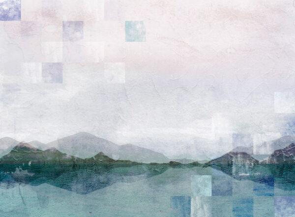 Kaufen Fototapeten Textured Watercolor Nature Beispiel mit Quadraten   3d tapeten
