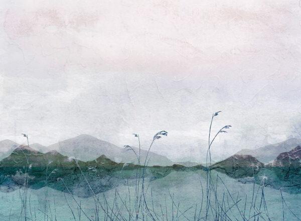 Kaufen Fototapeten Textured Watercolor Nature Beispiel mit Pflanzen   3d tapeten