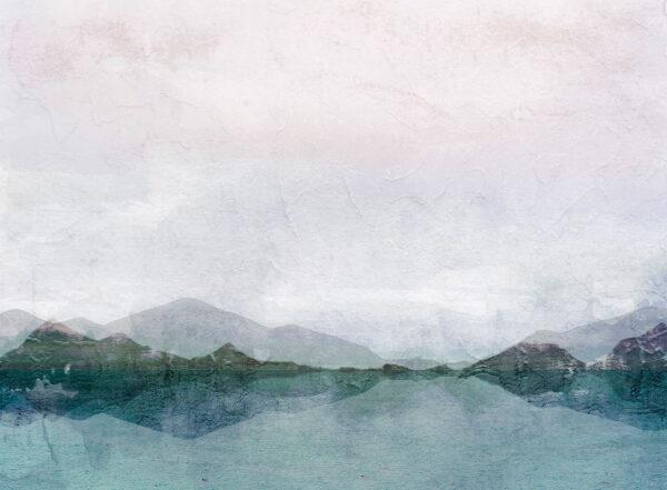 Fototapeten Natur Textured Watercolor Nature Beispiel Enzianblau   3d tapete