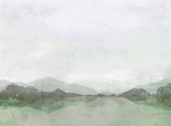 Fototapeten Natur Textured Watercolor Nature Beispiel grüne Tönung   3d tapete