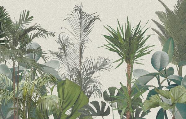 Designer Fototapeten Wild Jungle Beispiel heller Farbton | 3d wandtapete