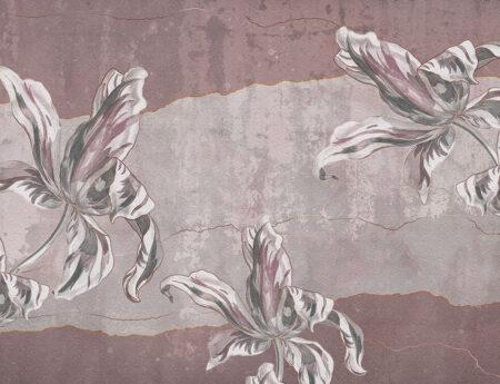Designer Fototapeten Tulip Touch Beispiel rosa Tönung | 3d tapete