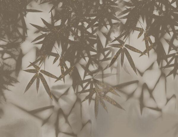 Design Fototapeten Looming Beispiel grau vergoldet   fototapete natur