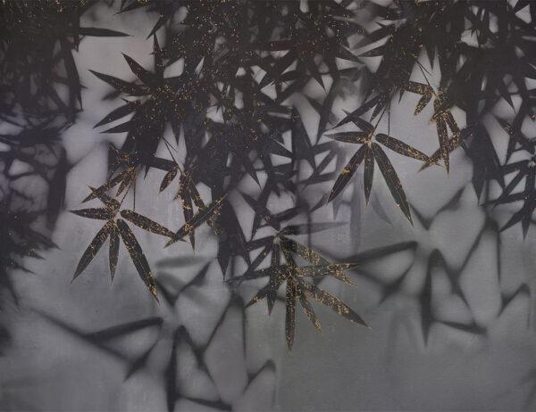Fototapeten Looming Dark Biespiel mit Gold | 3d tapete