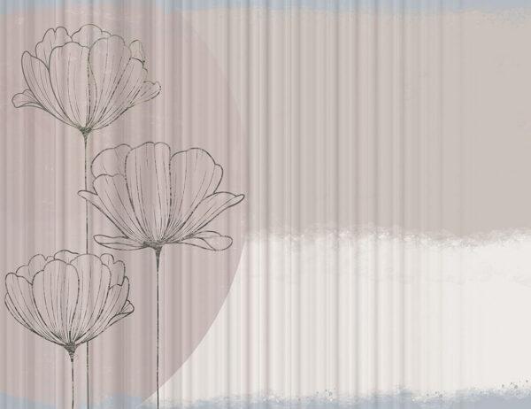 Kaufen Designer Fototapeten Bliss Bouquet Beispiel wellig | 3d tapeten