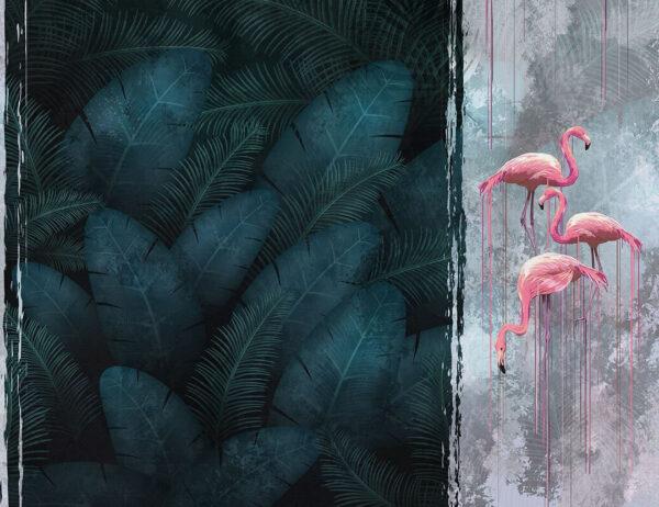 Designer Fototapeten Contrast Dark Beispiel dunkles Azurblau | 3d tapete natur