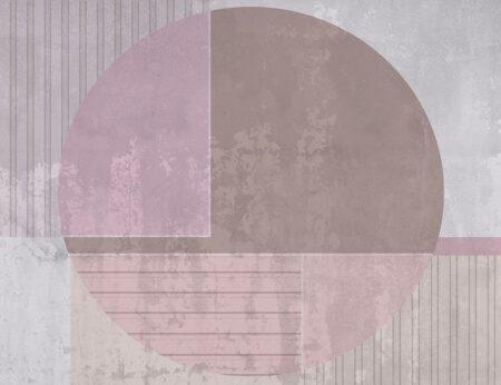 Kaufen Designer Fototapeten Circle Beispiel lila | 3d tapete