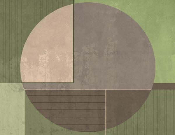 Kaufen Designer Fototapeten Circle Beispiel Grün | 3d tapete