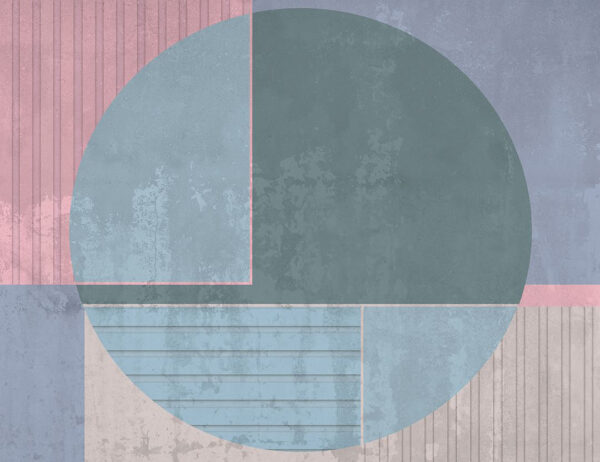 Kaufen Designer Fototapeten Circle Beispiel hellblau | 3d tapete