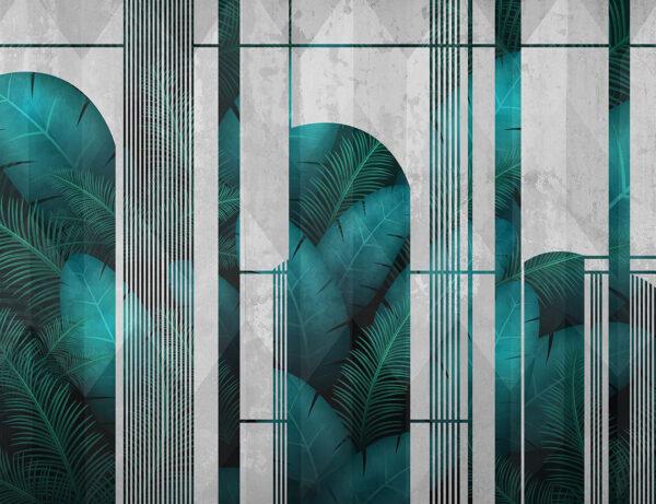 Fototapeten Fence Beispiel gräuliche Grauer Hintergrund | 3d tapete badezimmer