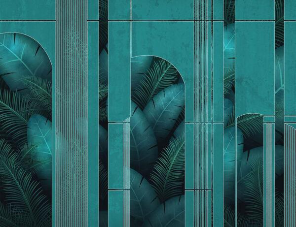 Fototapeten Fence Beispiel Türkis | 3d tapete badezimmer