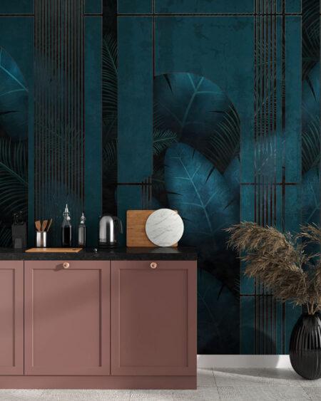 Design Fototapeten Fence Dark | fototapete natur
