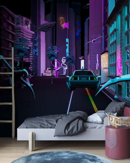 Designer Fototapeten Neon | 3d tapeten