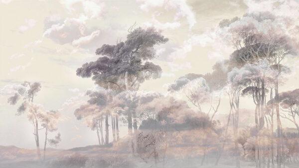 Designer Fototapeten Armonia of the Sunset Beispiel grau | 3d tapete