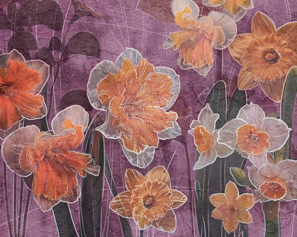 Kaufen Designer Fototapeten Narcissus Beispiel Rosa | 3d tapeten