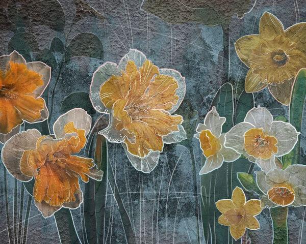 Kaufen Designer Fototapeten Narcissus Beispiel blau| 3d tapeten