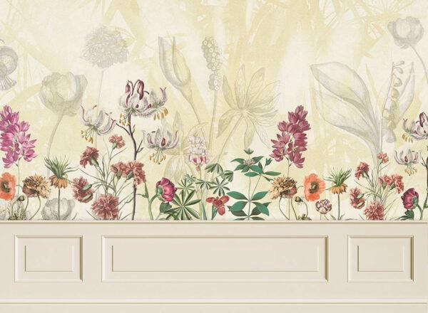 Kaufen Designer Fototapeten Garden Panels Beispiel gelbe Tönung | 3d wandtapete