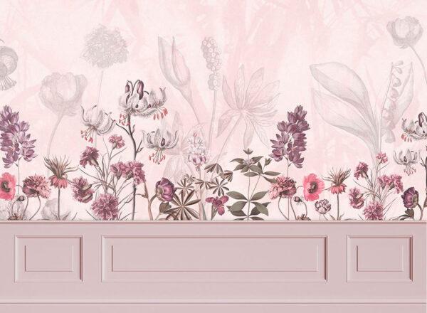 Kaufen Designer Fototapeten Garden Panels Beispiel rosa Tönung | 3d wandtapete