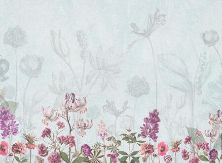 Designer Fototapeten Garden Beispiel Blautöne | 3d tapete schlafzimmer