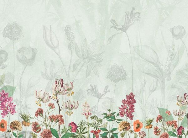 Designer Fototapeten Garden Beispiel Grüntöne | 3d tapete schlafzimmer