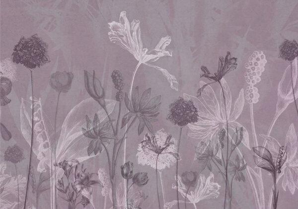 Fototapeten Secret Garden Beispiel violetter Farbton | 3d tapeten schlafzimmer